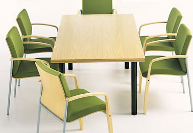 Conference Room Table and Mantis Conference Chair