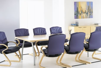 Board Room Table and ergonomic office chairs